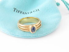 Tiffany & Co RARE VINTAGE 18K Yellow Gold Sapphire Ring Band Size 7