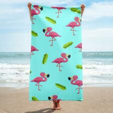 Flamingo & Palms Beach Towel