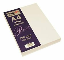 A4 White Smooth Cardstock 300gsm - 100 Sheets.