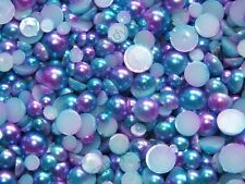 20g 500pc NEW Mermaid Rainbow Faux Half Flatback Pearls Unicorn Mix Craft DIY