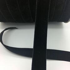 "5yds 5/8 ""16mm Vintage Black Velvet Ribbon Headband Clips Bow Wedding Craft"
