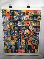 Chris Foss Fantasy Art Trading Cards UNCUT 90 CARD SHEET Poster Size FPG 1995