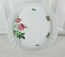 Royal Nordic Treasures Christineholm Rose Pattern Porcelain Fluted Baking Dish