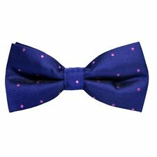 Polka Dot Navy Pink Bow Tie Wedding Bowties for Men Groomsmen Bow Ties Pre-tied