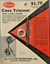 Vintage Lee Case Trimmer Pilot & Shell Holder 22/250