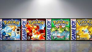 Pokémon Red, Blue, Green, and Yellow GameBoy Cases. NO GAME!! ~ See Description~