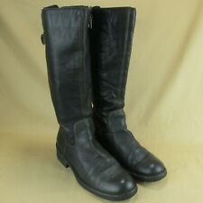 "Born Riding Boots US 11 EU 43 Women Knee High 16"" Side Zip 1"" Heel Leather"