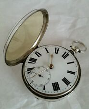 Sterling silver pocket watch.Richard Elliott Mexbro.  London 1871.By J W Hammon.