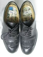 PAUL SMITH SHOES BLACK DIP DYE CALF BROGUE WINGTIP OXFORDS SIZE US 9½ READ NOTES