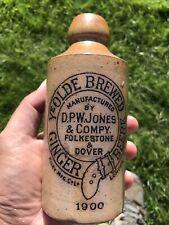 More details for lovely dated kent ginger beer bottle