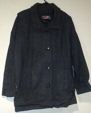 J Gallery Jacket Wool Blend Coat Size L/XL? Charcol Color Mens Womans? Peacoat