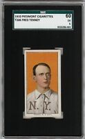 Rare 1909-11 T206 Fred Tenney Piedmont 350 New York SGC 60 / 5 EX