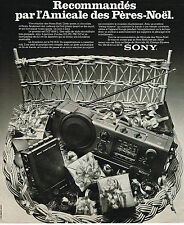 PUBLICITE ADVERTISING 045  1976  SONY   transistor  cassette-corder