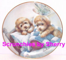 Puppy Pals Collector Plate Bedtime Fun Dog Danbury Mint