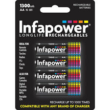4 PZ Pack Infapower b003 RICARICABILE AA NI-MH 1300mah-NUOVO