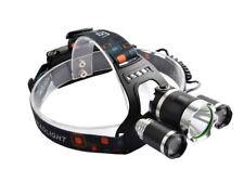 LAMPADA FRONTALE 3 LED PILE RICARICABILE AUTO TORCIA DA TESTA SPORT PESCA B0011