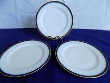 HAVILAND LIMOGES FOR BOOTHS COBALT BLUE /GOLD 3 x SIDE PLATES c1894-1931