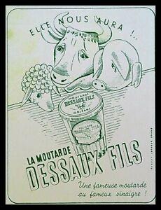Buvard Publicitaire, DESSAUX FILS - Moutarde au vinaigre