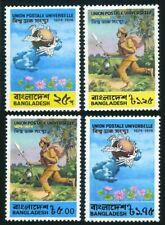 Bangladesh 65-68,68a sheet,MNH.Mi 45-48,Bl.1. UPU-100,1974.Emblem,Mail Runner.