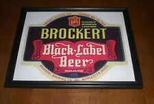 BROCKERT BLACK LABEL BEER BOTTLE LABEL FRAMED PRINT