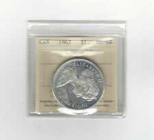 **1967** ICCS Graded Canadian,Silver Dollar**MS-64**