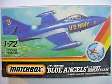 "F9F - 5 PANTHER ""BLUE ANGELS'"" U.S.NAVY 1/72 MATCHBOX  scatola 21,5x14x4,5 cm"