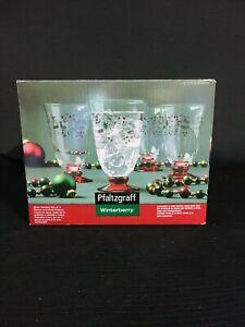 Pfaltzgraff Winterberry Set of 4 Water Goblets New in Original Box