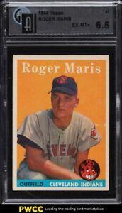 1958 Topps Roger Maris ROOKIE RC #47 GAI 6.5 EXMT+