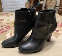 Franco Sarto Ankle Boots Booties Ladies 7.5 M Black High Heels Side Zipper. NWOB