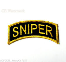US ARMY SNIPER SHOULDER PATCH 4 X 1.5 INCHES