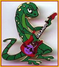 Hard Rock Hotel Orlando 2002 Giant Green Gecko Pin Playing Red Telecaster Guitar
