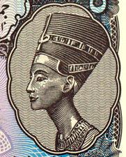 EGYPTE billet neuf de 5 PIASTRES  portrait de NEFERTITI Pick182