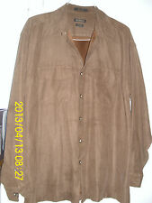 "MEN'S CLOTHING    ""VAN  HEUSEN"" CASUAL SHIRTS      16 1/2         SOFT SUEDE"