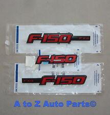 NEW 2009-2013 Ford F-150 SPORT Apperance BLACK/RED FX4 3 Emblem COMBO SET, OEM