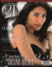 """JAMES BOND """"21 MAGAZINE"""" SPECIAL 2006 HISTORY OF 007 ISSUE GIRLS, CARS, GADGETS!"""
