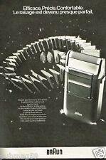 Publicité advertising 1979 Le Rasoir electrique Braun Micron