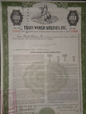 Trans World Airlines (TWA) Bond Certificate  Free Shipping
