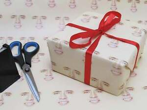 Nicolas Cage Creepy Skin Face Head Gift Wrap Wrapping paper Birthday Present