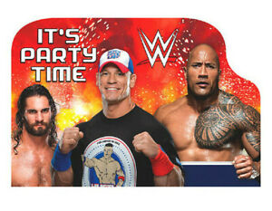 WWE Wrestling Postcard Invitations (8ct) Boys Birthday Party Supplies Notepads