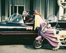 BATMAN 8X10 PHOTO YVONNE CRAIG BATCYCLE BATMOBILE RARE