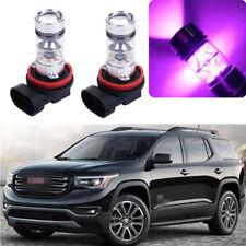 2x 14000K 100W Purple LED Headlight Bulb Kit Fog Light For GMC Acadia 2013-2018