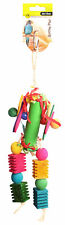 Avi One Destructable Toy Paper Roll With Wooden And Plastic Beads Parrot Macaw
