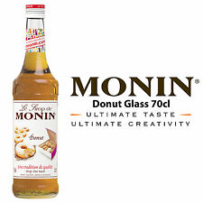 MONIN Coffee Cocktail Syrups - 70cl Glass DONUT Syrup - USED BY COSTA COFFEE