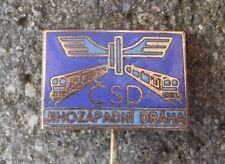Czechoslovakia Czech Rail Railway System Train South West Region CSD Pin Badge