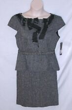 NINE WEST SUIT – BELTED TOP & SKIRT - LINEN & COTTON TWEED - SIZE 14 P -NWT $240