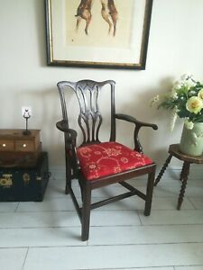 Chippendale Arm Chair Mahogany Dining 1880