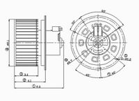 HVAC Blower Motor Front TYC 700099