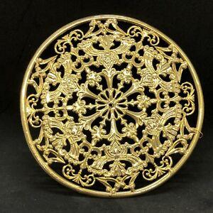 Aureola traforata Diadema Per Santi 11,5 Cm Ottone Cesellato Bagno oro