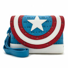 Marvel Captain America Crossbody Bag by Loungefly Blue