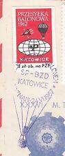 POLAND 1967.VI.24 Ballon KATOWICE, Mail Cat.42b Start POZNAN - RABCZYN landing